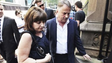 Sentencing shock: parents Ralph and Kathy Kelly.