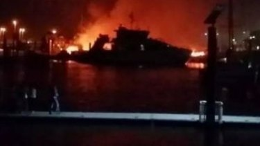Two boats were destroyed in a boat fire on Saturday night at Yeppoon.