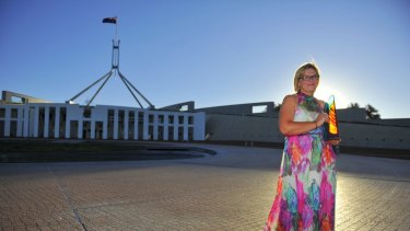 The 2015 Australian of the Year Rosie Batty in Canberra on Sunday.