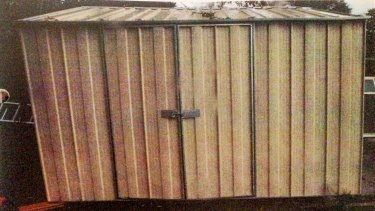 The shed where the boy died in 2011.