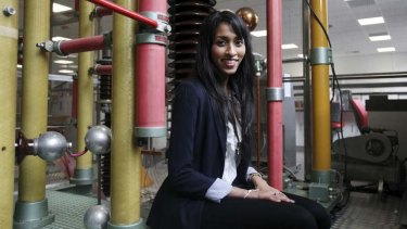 Energised: Varuni Fernando is an electrical engineering student at the University of NSW.