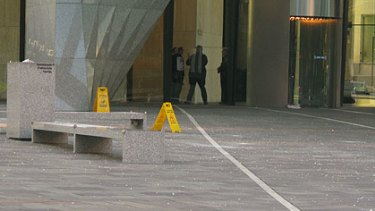 Police have closed off part of Eagle Street in Brisbane's CBD after another pane of glass fell from a high-rise building.