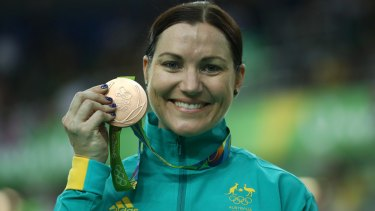 Bronze medallist Anna Meares.