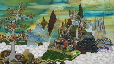 Mark Rodda's painting <i>Valhalla</i>.