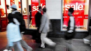 While retail figures are on the improve, spending in department stores is on the slide.