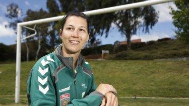 New Canberra United signing Holly Houston.