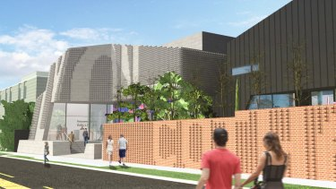 An artist's impression of the gallery to be built beside the Lyon Housemuseum in Cotham Road, Kew.