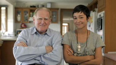 Polar opposites: NSW parliamentarian Fred Nile and filmmaker Maya Newell.