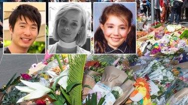 The Bourke St Mall victims: Matthew Si, Jess Mudie and Thalia Makin.