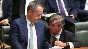 Retiring Labor frontbencher Gary Gray with Opposition Leader Bill Shorten last year.
