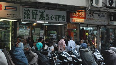 To find the restaurant, just look out for the crowd standing around outside surrounding hobby shops and toy shops.