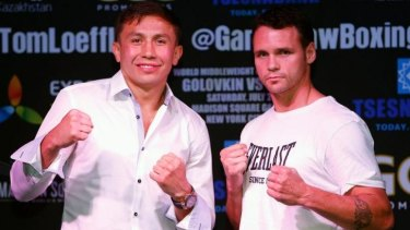 Gennady Golovkina and Daniel Geale are ready to punch up a storm.