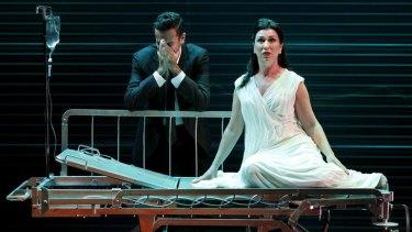 Byron Watson and Antoinette Halloran in the Victorian Opera's <i>Midnight Son</i>.