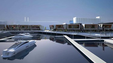 Money-spinner … an artist's impression of the proposed marina.
