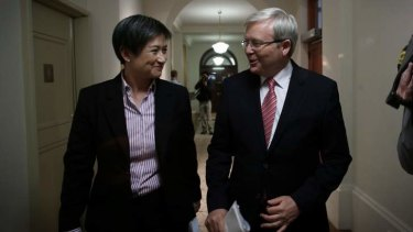 Prime Minister Kevin Rudd and Senator Penny Wong say the Coalition has a $10 billion hole in their savings.