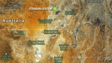 """Ethabuka Station is in the heat-baked remote """"corner country"""" of Queensland."""
