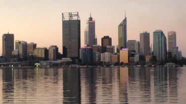 Perth CBD as it is now.