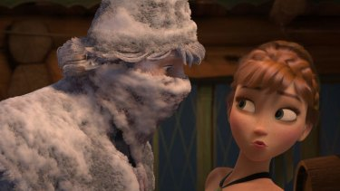 Freeze frame: <i>Frozen's</i> heroine Anna comes face to face with mountain man Kristoff.