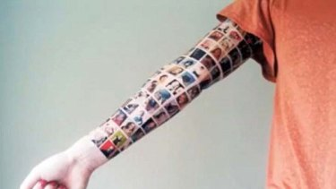 The so-called Facebook tattoo - later revealed to be a marketing stunt.