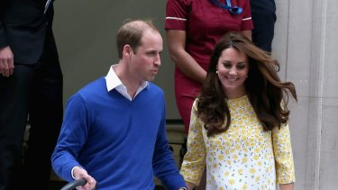 Kate and William leave hospital.