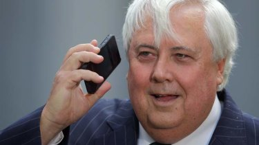 Early Christmas: Clive Palmer.