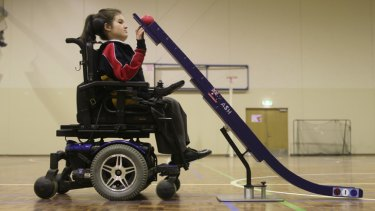 Breaking down barriers: Ashleigh Jamieson has won gold medals for boccia this year.