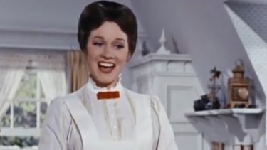 Julie Andrews sings A Spoonful of Sugar in the 1964 musical motion picture Mary Poppins.