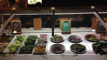 The salad bar has spruced up over the years.