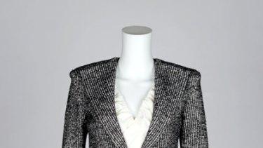 Tweed ... Yeojin Bae jacket, $690, and skirt, $290, (02) 9529 2250 and Matthew Eager ruffle blouse, $279, (02) 9281 4514.