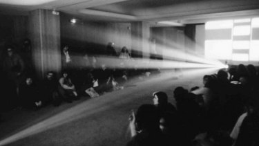 <i>Light Music</i> by Lis Rhodes is a departure from traditional filmmaking.