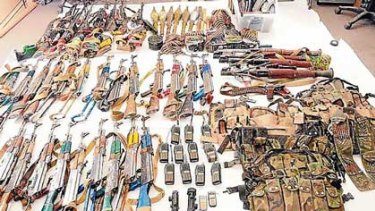 Weapons captured during the Shah Wali Kot offensive.