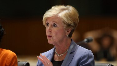"Gillian Triggs, president of the Human Rights Commission, is accused of trying to ""stitch up the government""."