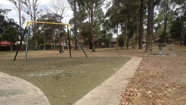 Bill Colbourne Reserve in Blacktown, where a 14-year-old girl was allegedly attacked on Saturday.