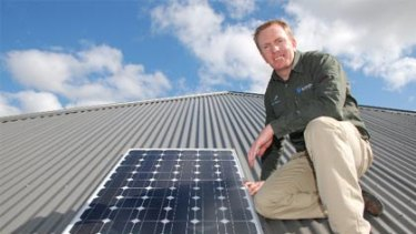 """Richard Sammon, owner of Sammon Electrical, says his business has """"grown massively"""" since taking part in the EcoSmart Electrician program."""
