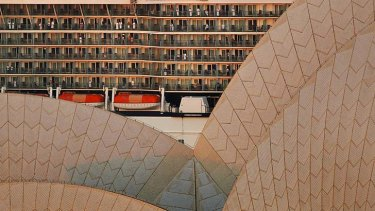 Going for a song: The tiles of the A2 sail of the Sydney Opera House - 125,000 of them - are looking for new owners.