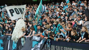 Port Adelaide fans during the elimination final against Richmond.