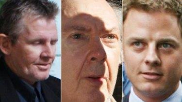 A cast of many ... Adam Tolmie, left, James Robert Markham and Ben Fordham.