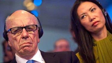 Split: Rupert Murdoch and Wendi Deng.