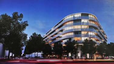 An artist's impression of the new Raiders building in Braddon.