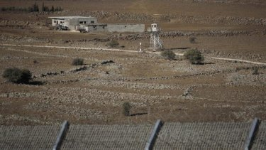 Border tensions: Rebels have moved closer to the border between Syria and Israel.