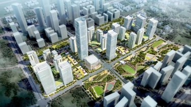 Woods Bagot'?s Shenzhen Hybrid City project.