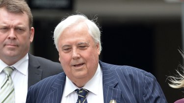 Clive Palmer arrives at court in September to answer questions over the fall of Queensland Nickel.