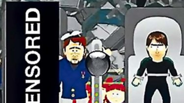 No joke: Comedy Central obscured the offensive depiction of Muhammad from an episode of <i>South Park</i>.