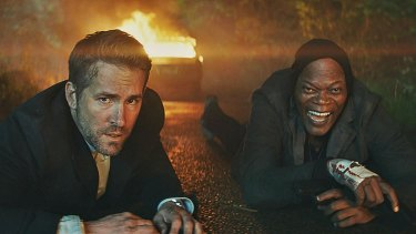 The Hitman's Bodyguard  pairs Ryan Reynolds (left) as a bodyguard with Samuel L. Jackson's invincible hitman.