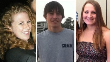 Victims of the mass killing: Katie Cooper, Chris Michael-Martinez and Veronika Weiss.