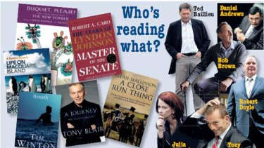What volumes have been gracing our leading politicians' bedside tables?