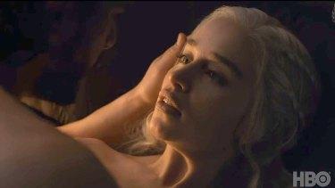 Game of Thrones finale ... Daenerys Targaryen's steamy sex scene with Jon Snow.