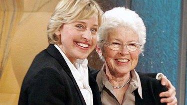 Staunch supporter: Betty DeGeneres with famous daughter, Ellen.
