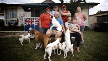 Peta and Ashley Kennedy and their family in the SBS documentary <i>Struggle Street</i>.