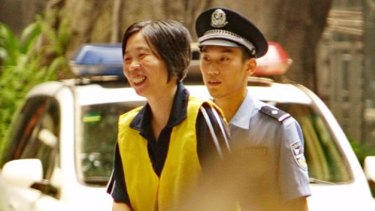 Charlotte Chou during her trial.
